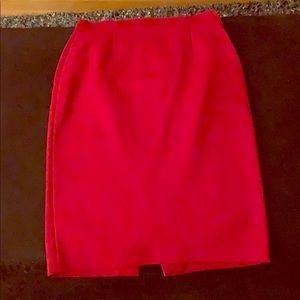 Zara Red Pencil Skirt